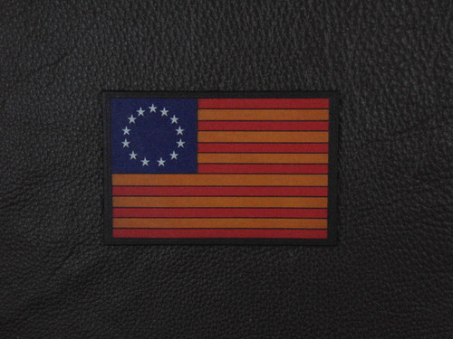 US FLAG 1776 Betsy Ross Vintage Color Leather