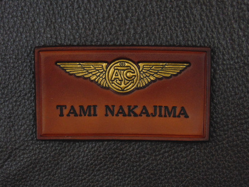 Vintage Brown with Black text  Wings shown are Navy Aircrew