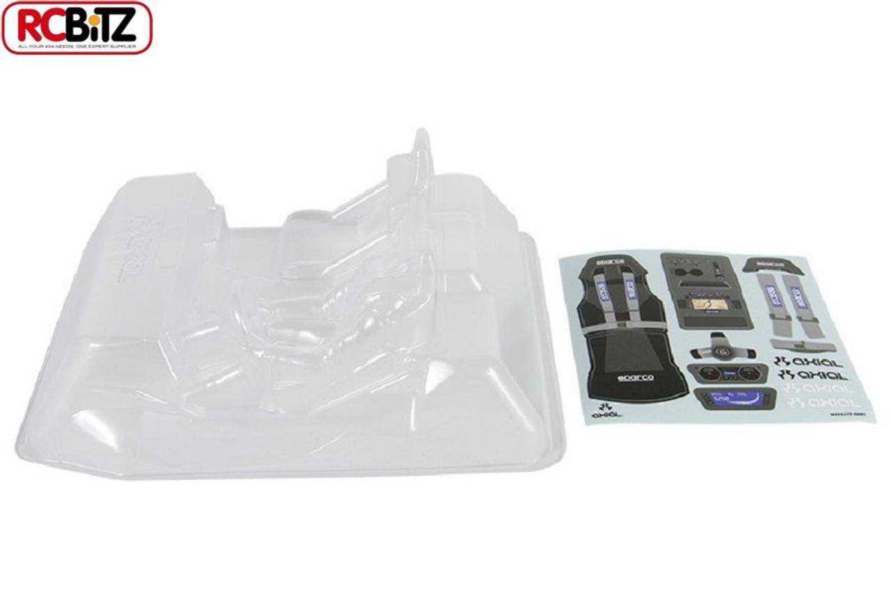 AXIAL WRAITH Interior SET  040 CLEAR inc Driver head helmet decals AX31177  Spawn