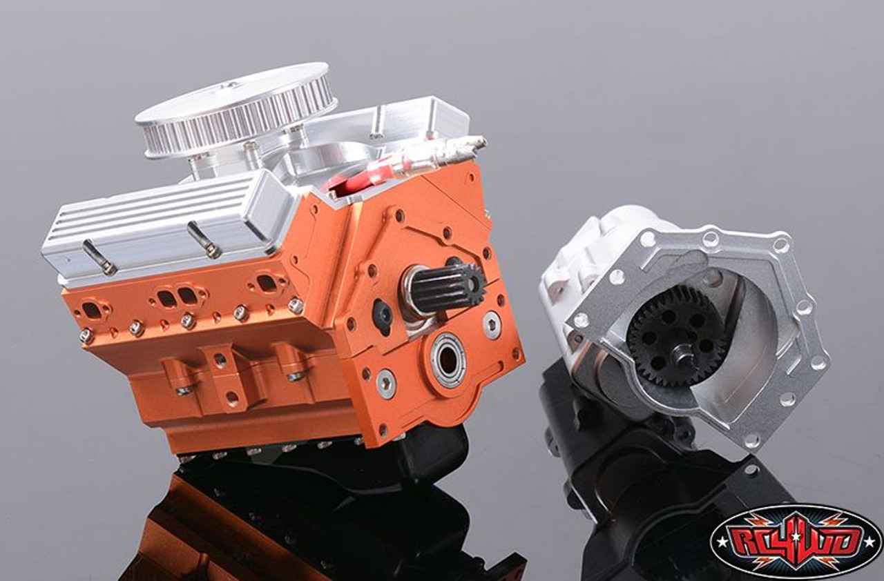 RC4WD 1/10 V8 Scale Engine for Trail Finder 2 TF2 Fits 540 motor Z-S1043  10th
