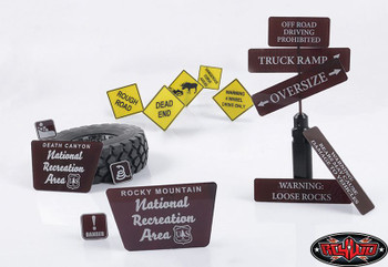 RC4WD Tough Terrain Scale Signs great for making course Z-L0064 DETAILED Plastic
