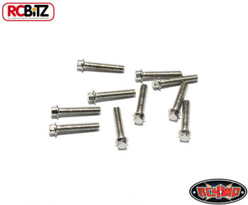 RC4WD Miniature Scale Hex Bolts (M2 x 10mm) SILVER Z-S0622 Bolt Scaler Detail