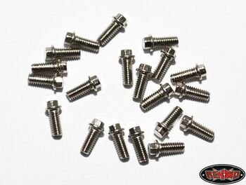 RC4WD Miniature Scale Hex Bolts (M2.5 x 6mm) 20 SILVER Z-S0663