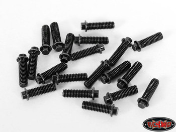 RC4WD Miniature Scale Hex Bolts 20 (M3 x 10mm) BLACK Z-S0692 Bolt Scaler Detail
