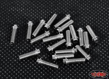 RC4WD Miniature Scale Hex Bolts 20 (M3 x 10mm) SILVER Z-S0693 Bolt Scaler Detail