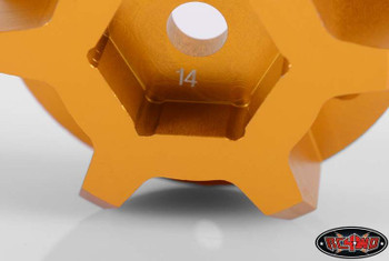 14mm Universal Hex 2 for 40 Series & Clod Wheels Z-S0889 Orange Alli RC4WD