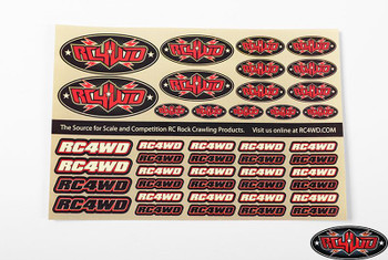 RC4WD Medium Decal Sheet Logo Emblem Sign Sticker Pre Cut Z-S1272 rc4wd.com