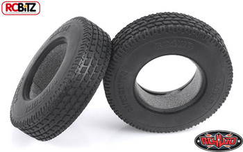 """Roady 1.7"""" Commercial 1/14 Semi Truck Tires 14th Tyre Tamiya Lorry RC4WD Z-T0032"""