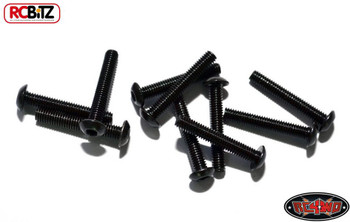 Steel Button Head Cap Screws M3 x 18mm 10 BLACK TF2 G2 Hex RC4WD Z-S0657 RC