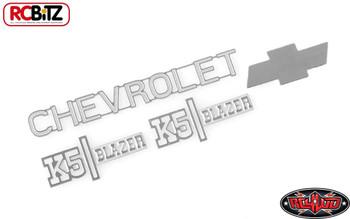 TOY Chevrolet K5 Blazer Metal Emblem Logo Badge Set Ascender RC4WD Z-S1560