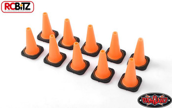 1/10 Scale TOY Traffic Cones Bollards ORANGE Rubber 10 RC4WD Z-S1658 RC Gates