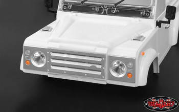 TOY D90 110 Aluminum Front Grill & Headlight Surrounds SILVER RC4WD Z-S1654 RC