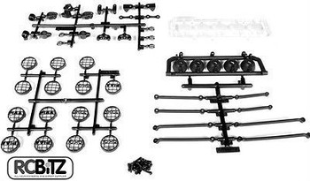 Universal 5 Bucket Light Bar Set AX30709 FIT ALL Axial Trucks Hardware Included
