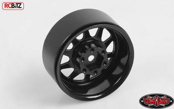"""OEM Stamped Steel 1.9"""" Beadlock Wheels BLACK RC4WD Z-W0210 6 Lug Hex Mount"""