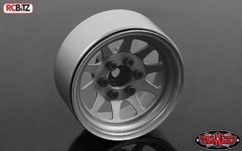 "OEM Stamped Steel 1.9"" Beadlock Wheels PLAIN Silver Raw 12mm Hex RC4WD Z-W0212"
