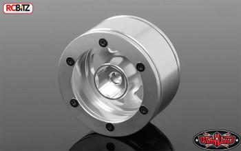 "Truckie 1.55"" Beadlock Wheels inc scale hubs SILVER RC4WD Z-W0233 Alluminium RC"