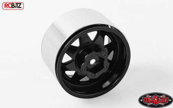 "5 Lug Deep Dish Wagon 1.9"" Steel Stamped Beadlock Wheels BLACK RC4WD Z-W0243"