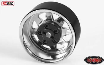 5 Lug Wagon 1.9 scale Steel Stamped Beadlock Wheel CHROME Pin One RC4WD Z-Q0040