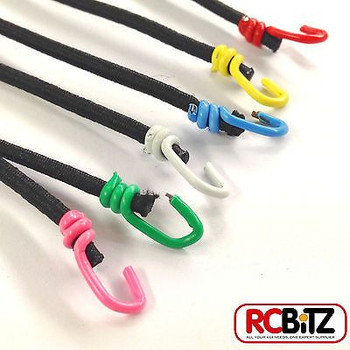 Pair 2 Small Scale Scaler Bungee Cords Tie Securing Straps 130 [Green]