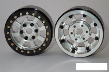"1.9"" Assassin Ally Beadlock Wheels SILVER SSD00139 Vanquish SLW Hubs 12mm Hex"