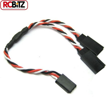 Etronix 22AWG Futaba Twisted Y Extension Wire Servo ESC Lead Cable 30 cm ET0753