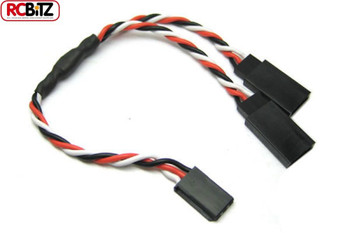 15cm 22AWG FUTABA TWISTED Y Lead Extension Wire Cable ET0751 Light Bar Connection