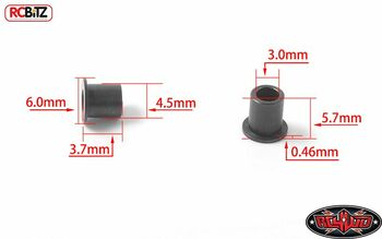 Knuckle Top Hat Shoulder Bushings for Yota II Axle 8 Gelande II G2 RC4WD Z-S1784
