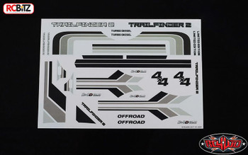 Complete TOY Graphic Decal Sticker TF2 Mojave Hilux Body RC4WD Z-B0140 RC Grey