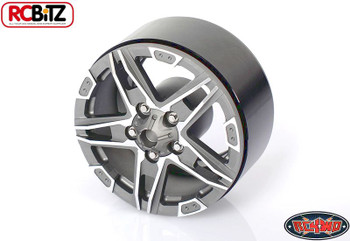 "RC4WD 1.9"" Bombshell Alloy Beadlock Wheel GUNMETAL Hex Mount SCX10 G2 Z-W0173"