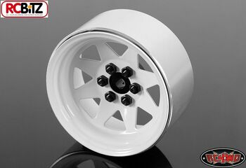 "RC4WD 6 Lug Wagon 2.2"" Steel Stamped Beadlock Wheels WHITE Pin Mounting Z-W0146"