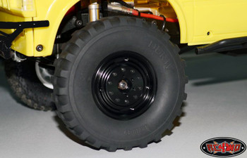 "RC4WD Russian Military Ural 1.9"" Internal Beadlock Wheels BLACK Hex Z-W0009"