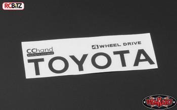 Metal Rear Emblem for TF2 Mojave Bed Body BLACK Sticker Decal Badge VVV-C0292