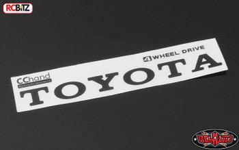 Metal Vintage Rear Emblem for TF2 Mojave Body BLACK Logo Sticker Decal VVV-C0293