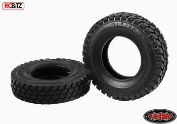 "King of the Road 1.7"" 1/14 Semi Truck Tires RC4WD VVV-S0061 Dump Truck Tamiya RC"