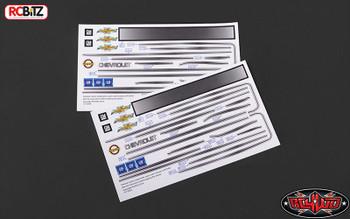 RC4WD Chevrolet Blazer Decal Sheet Set for Chevy Blazer Body Pin stripe Z-B0123