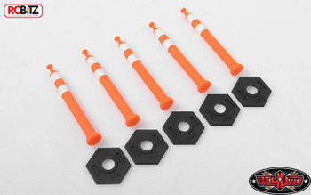 1/12 Tall Highway Road Traffic Cones x5 RC4WD Z-S1619 ORANGE Rubber Semi Truck
