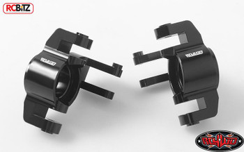 Front Steering Knuckles for Axial Yeti XL Z-S1750 METAL Aluminium BLACK rcBitz