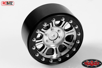 "RC4WD Raceline Monster 2.2"" Beadlock Wheels Z-W0174 Axial Bomber Silver / Black"