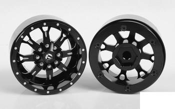 """RC4WD Fuel Offroad Krank 1.7"""" Beadlock Wheels Z-W0256 Black Off-Road Neg offset"""