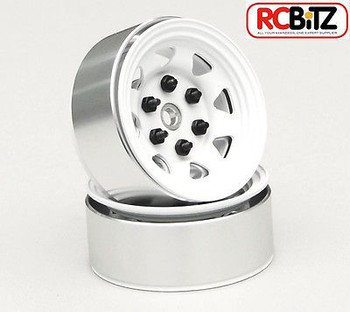 Stamped Steel 1.55 Stock White Beadlock Scaler Wheel RC4WD HEX Mount TF2 Z-W0035