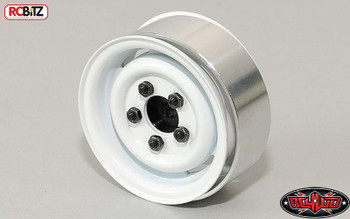 "1.55"" Landy Vintage Stamped Steel Beadlock Wheels White Land Rover RC4WD Z-W0076"