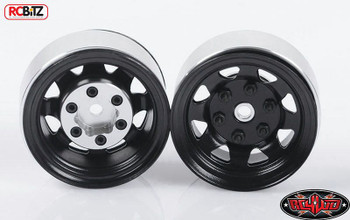 Stamped Steel 1.55 Stock Black Beadlock Scaler Wheel RC4WD HEX Mounting Z-W0036