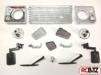 1/10 Land Rover D90 VAN Hard Plastic Body Kit AMAZING Detail & INTERIOR G2 Box