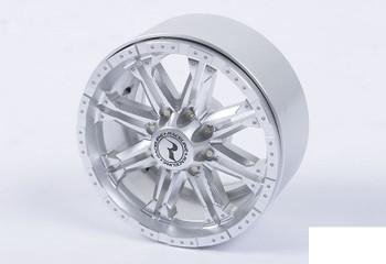 """RC4WD Raceline Octane 2.2"""" Beadlock Wheels SILVER bolts & Hubs Decals Z-W0188"""