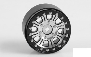 "RC4WD Raceline Monster 1.7"" Beadlock Wheels Silver Black Z-W0203 8 spoke rcBitzLtd"