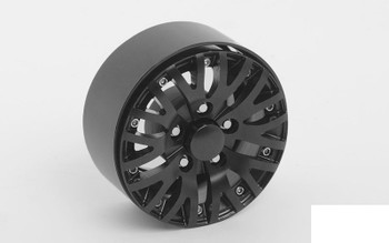 "Fantom 1.9"" Beadlock Wheels BLACK RC4WD Z-W0207 inc hubs & Scale bolts rcBits"