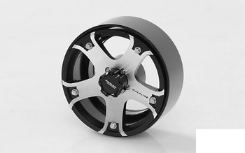 "RC4WD Raceline Gunner 1.7"" Beadlock Wheels Z-W0211 Silver 5 Spoke inc Hub HEX"