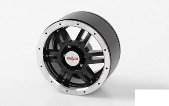 "Rugged 1.9"" Beadlock Wheels RC4WD Z-W0220 6 Spoke Black Cruiser FJ40 rc-Bits"