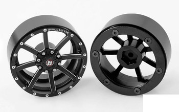 "RC4WD Ballistic Offroad Razorback 2.2"" Beadlock Wheels Z-W0236 Narrrow 8 spoke"