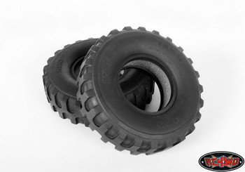 "2 DUKW 1.9"" Military Style Offroad Tires RC4WD X3 Z-T0011 Open BAR tread for mud"